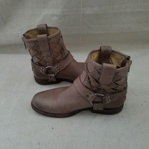 Frye Phillips Harness Woven Ankle Boots